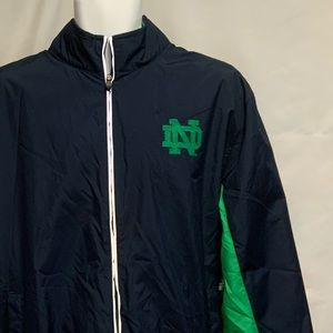 Men's Champion Notre Dame windbreaker size…